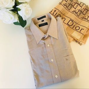 Christian Dior Men's Large Long Sleeve Button Up